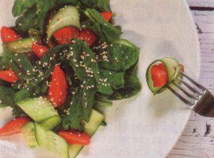 Proljetna salata s jagodama