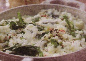 Rižoto sa špinatom i gorgonzolom